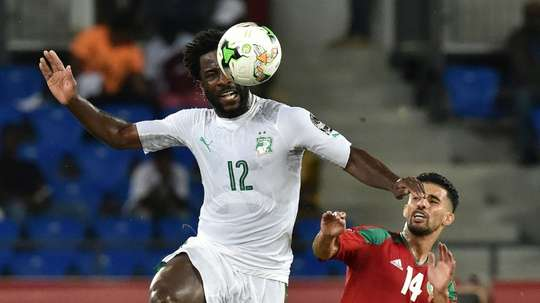 Wilfried Bony scored for the Ivory Coast. AFP