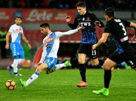 Juventus-bound Caldara dents Napoli title hopes with Atalanta win. AFP