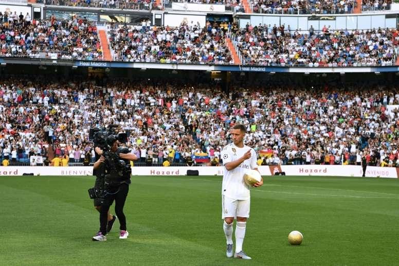 Eden Hazard podría debutar en Liga en la jornada 3, ante el Villarreal. AFP