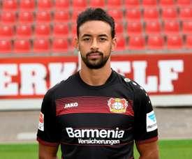 Karem Bellarabi made Bundesliga history when he scored the league's 50,000th goal. AFP