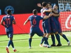 Suarez scored the Atletico winner. AFP