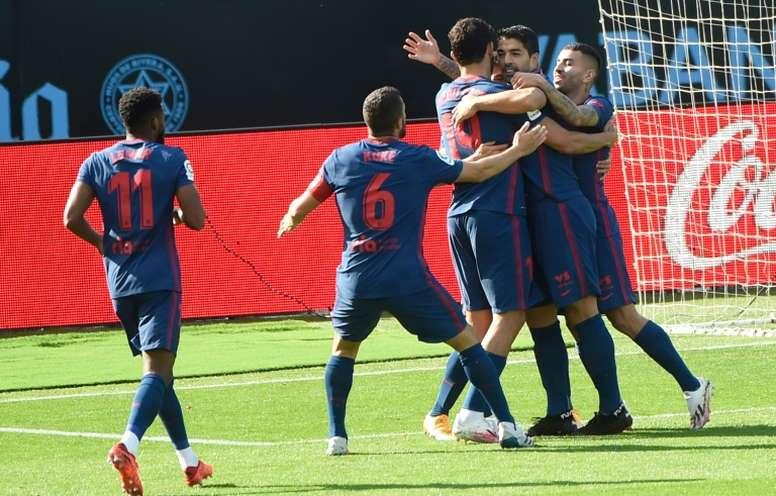 O Celta perdeu em casa para o Atlético de Madrid pela sexta rodada do Espanhol. AFP
