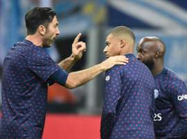 Mbappé recalled Diarra and Buffon's painful departures from PSG. AFP