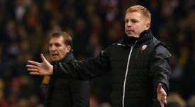 Neil Lennon's Hibs side were defeated by Aberdeen. AFP