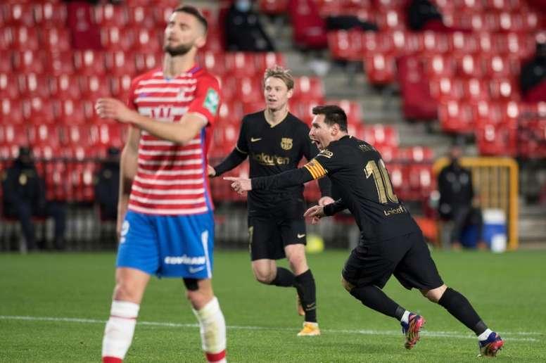 Messi revival continues as Barca thrash Granada. AFP
