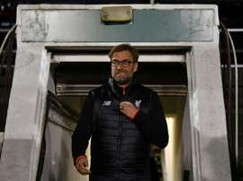 Liverpools Jurgen Klopp arrives for their English FA Cup third round replay match against Plymouth Argyle on January 18, 2017