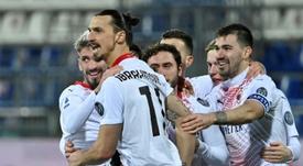 Zlatan est heureux à Milan. AFP