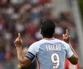 Falcao struck a hat-trick in champions Monaco's 4-1 victory away to Dijon. AFP