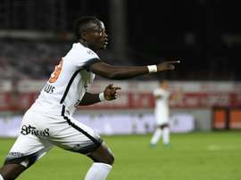 Casimir Ninga is Montpellier's top scorer this season with five goals in the past two matches. AFP