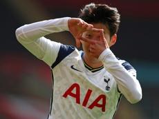 Son Heung-min scored four times as Tottenham won 2-5 at Southampton. AFP