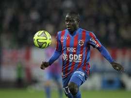 Kanté jugó dos años en el Caen antes de fichar por el Leicester. AFP/Archivo