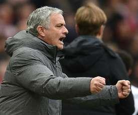 Mourinho elogiou a sua equipa. EFE