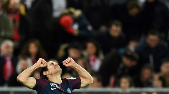 Cavani scored twice as PSG claimed victory. AFP