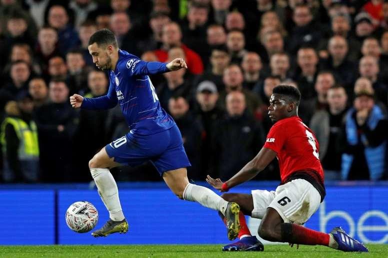 United e Chelsea dividem frustrações. AFP