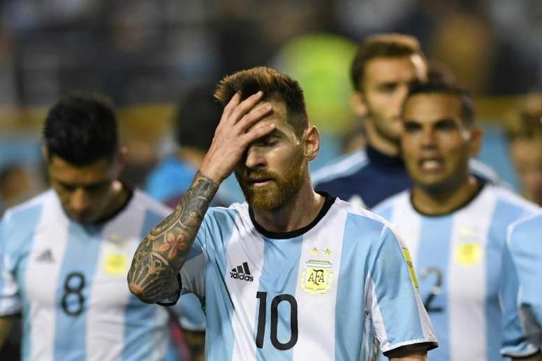 Argentina were held to a 0-0 draw in Buenos Aires by Peru. AFP