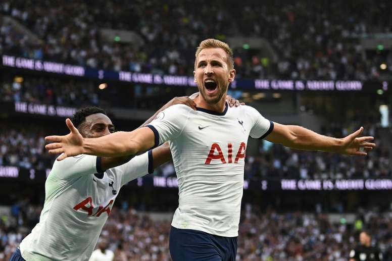 Harry Kane was the hero for Tottenham v Aston Villa. AFP