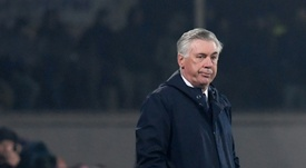 Ancelotti will be expecting a much-improved second leg performance from his team. AFP.