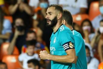 El Real Madrid ya es líder en solitario. AFP