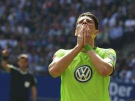 Mario Gomez a marqué l'unique but de la rencontre ce soir. AFP