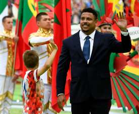 Ronaldo pictured at the 2018 Russia World Cup opening ceremony. AFP
