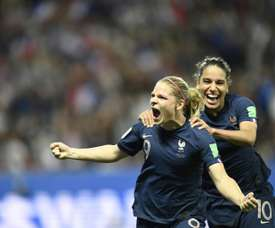 Le Sommer scored the decisive goal in France's 2-1 win over Norway. AFP