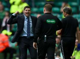 Gerrard was incensed by targeting of Rangers' Morelos by St Mirren fans.  AFP