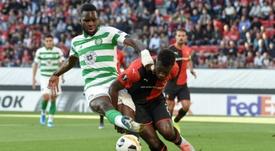 Edouard (L) got a brace in Celtic's win over Kilmarnock. AFP