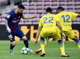 Las Palmas recebe o Barcelona. EFE