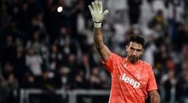 Buffon égalera Maldini au nombre de matches joués en Serie A. AFP