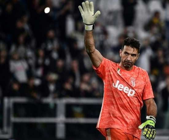 Buffon has played against two generations of the same family. AFP