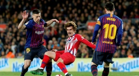 Messi-Suarez-Griezmann could become a trident to be feared. AFP