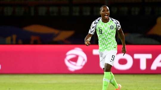 Ighalo se marchó con la medalla de bronce. AFP