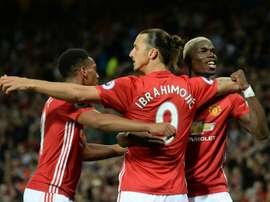 Paul Pogba has defended former United teammate Ibrahimovic. AFP