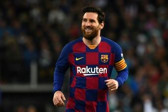 Newell's publicó la posible llegada de Messi. AFP