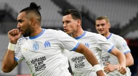 Les compos officielles du match de Ligue 1 entre Nîmes et l'OM. AFP