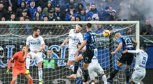 El Inter cayó frente al Atalanta. AFP