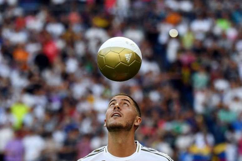 Hazard, del jardín de su casa al edén del Madrid. AFP