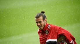 Bale volvió a entrenar con Gales. AFP/Archivo