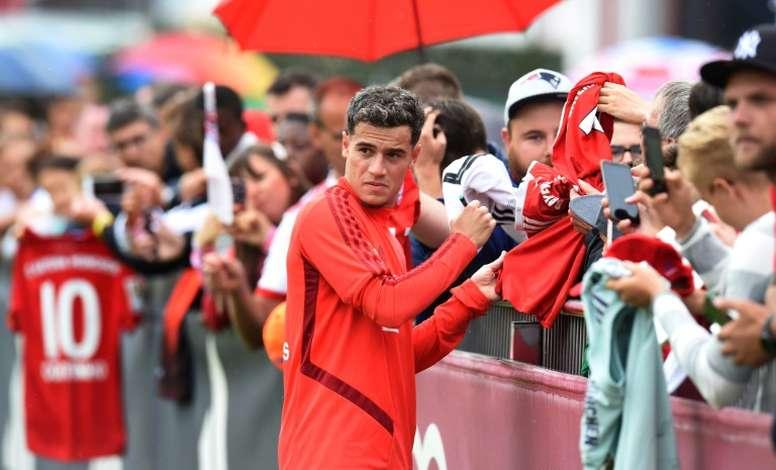 El Bayern de Múnich quiere que Coutinho participe más. AFP