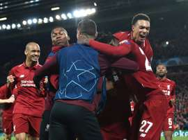 Divock Origi scored Liverpool's fourth as they defeated Barça in incredible fashion. AFP