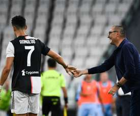 Italian media say Cristiano Ronaldo had a bad relationship with Sarri. AFP