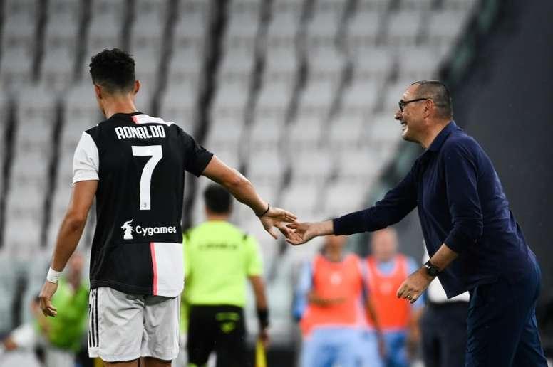 Italian media say Cristiano Ronaldo had a bad relationship with Sarri. AFP