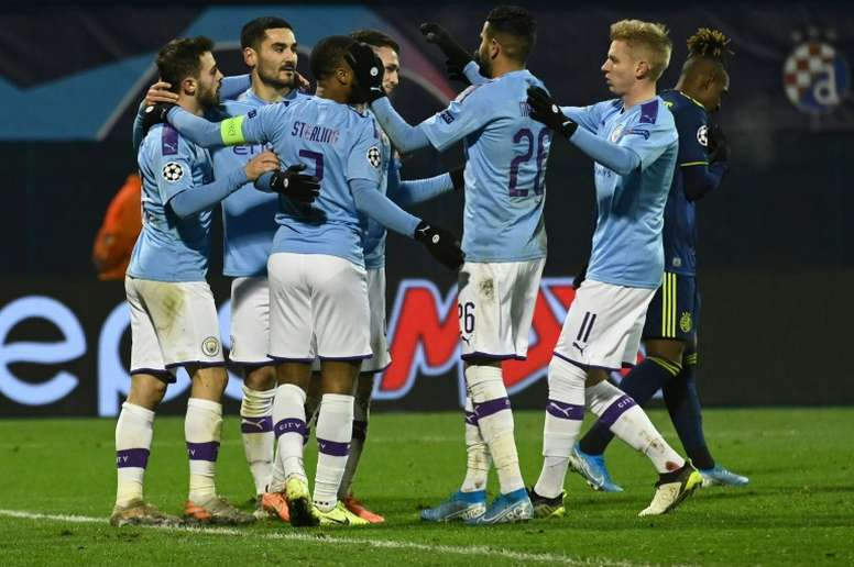 Guardiola says he has no problem with the Man City player's party. AFP