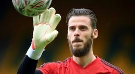 Solskjaer says he 'never lost faith in De Gea'. AFP