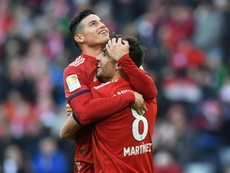 The victory puts Bayern level on points with Dortmund. AFP