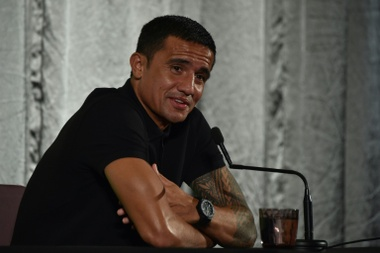 Tim Cahill gave his opinion on the Ballon D'Or. AFP