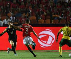 Lorch's late goal stunned Egypt in Cairo. AFP