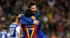 Alcácer elogió al argentino. AFP