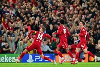 El Liverpool remontó a un Milan que dio una buena imagen. AFP