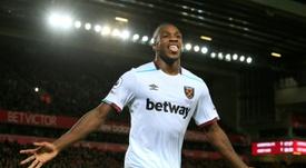 O ala direito foi eleito o jogador do ano do West Ham, esta época. AFP